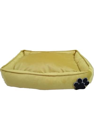 Paticik Köpek Yatağı Sarı 60 x 80 cm