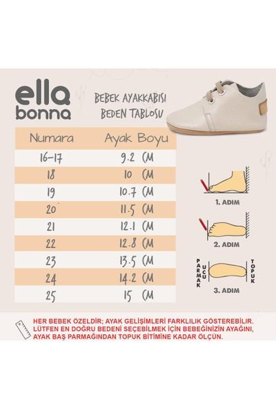 Ella Bonna Erkek Bebek Ayakkabısı İlk Adım Ev Ayakkabısı Açık Kahverengi 21