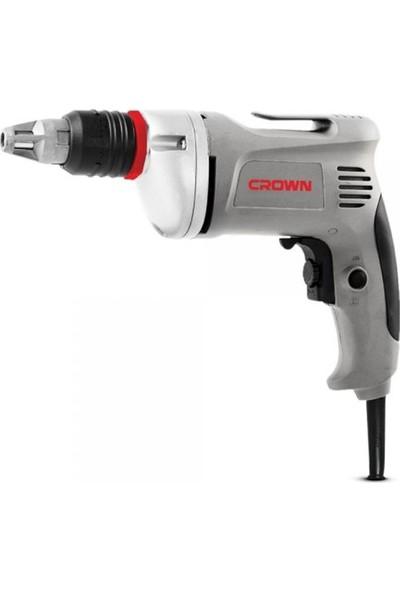 "Crown CT12001 Elektrikli Alçıpan Vidalama Makinası 6 mm 1/4"" 710W"