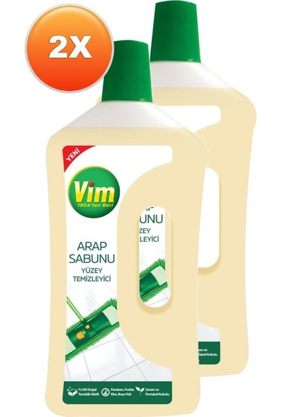 Vim Arap Sabunu Jel Yüzey Temizleyici 1000 ml x 2