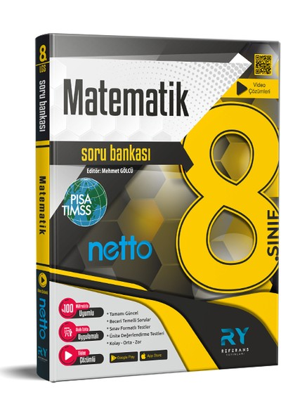 Referans Yayınları Netto LGS 8. Sınıf Matematik Soru Bankası Tamamı Video Çözümlü