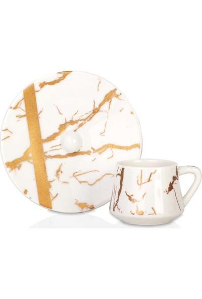 Acarlar KZN-010367 Porselen 6lı Kahve Fincanı
