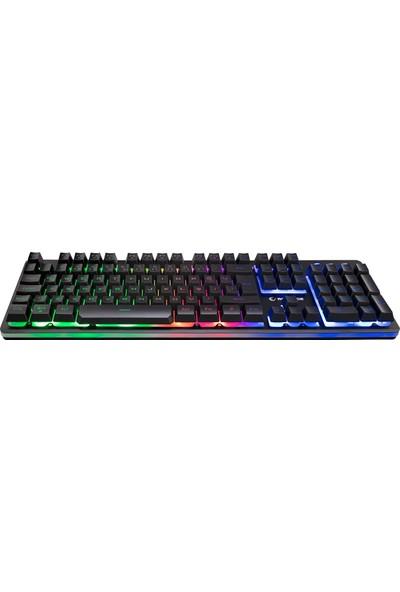 Rampage KB-R99 X-Coral Rainbow Aydınlatmalı Metal Yüzeyli Gaming Oyuncu Klavyesi