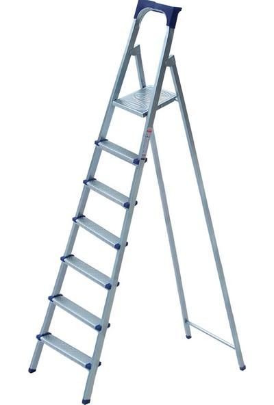 Elips 6+1 Basamaklı Metal Profil Ev Merdiveni