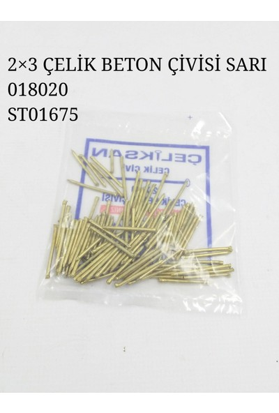 Tuğra Süpürgelik Çivisi Çelik Çivi 2X30 Beton Çivisi 100 Lü Paket