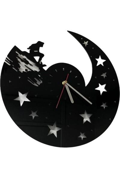 Pleksi Yıldız Kız Duvar Saati