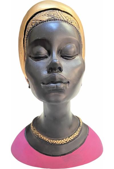 Arem Dekor Aksesuar Afrikalı Kadın Obje