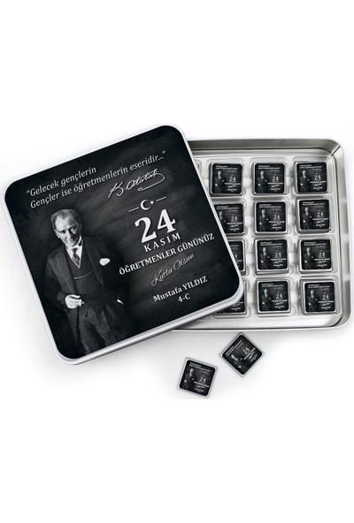 Mutluluk Atölyem Öğretmenler Günü Hediyesi Kişiye Özel Baskılı Çikolata