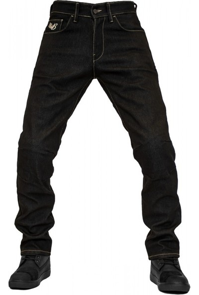 The Biker Jeans City Biker Cold Killer Black Korumalı Motosiklet Kot Pantolonu
