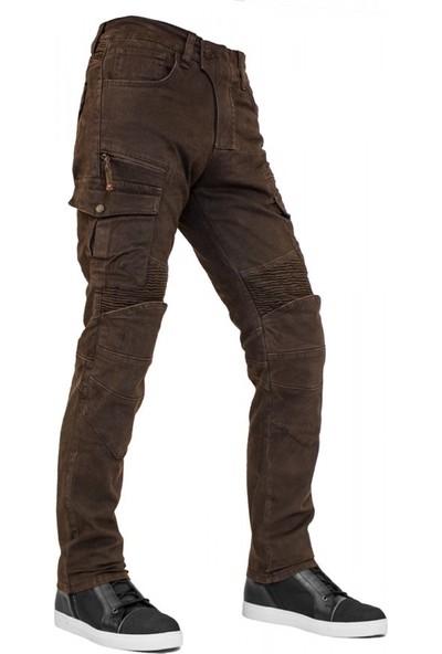 The Biker Jeans Cotton Air Flexi D.brown Korumalı Motosiklet Pantolonu