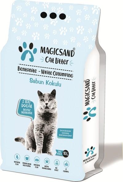 Magicsand Marsilya Sabun Kokulu Kedi Kumu İnce Taneli 10 lt