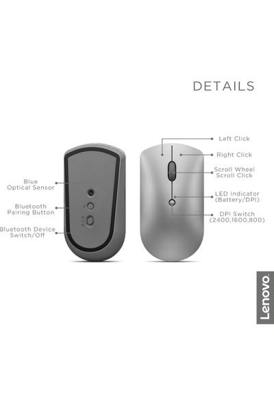Lenovo 600 2400 DPI Bluetooth Silent Mouse - Grey