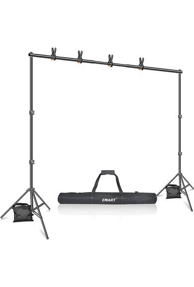 Emart EM-BS2030 Fotoğraf Stüdyosu 3 m Ayarlanabilir Arkaplan Standı