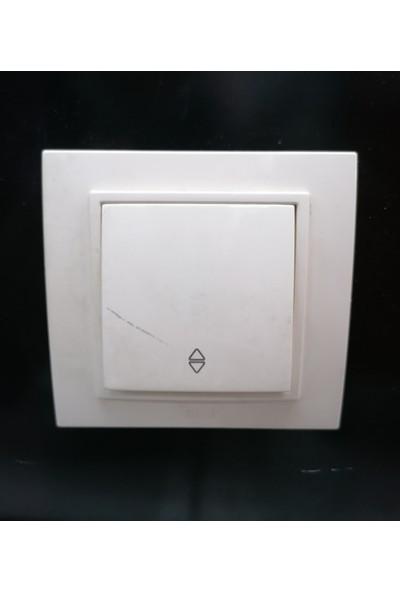 EL-Bİ Zena Beyaz Veavien Anahtar (Çerceve Dahil)