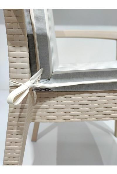 Derya Ticaret 6 Adet Sırt Dayamalı Sandalye Minderi