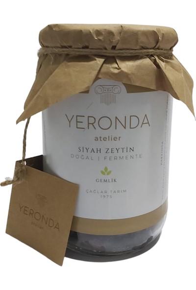 Yeronda Gemlik Tipi Net 400 gr Fermente Siyah Zeytin