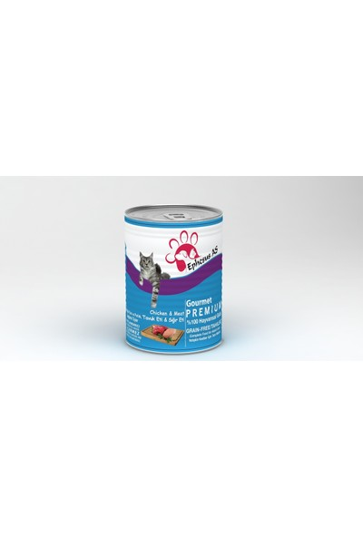 Ephesus As Premium Tavuk ve Sığır Etli Yetişkin Kedi Konserve Mama 415gr x 24