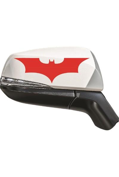 Dijitalya 2 Adet Yarasa Sticker | Kaput - Bagaj - Cam - Leptop - Ayna | Kırmızı