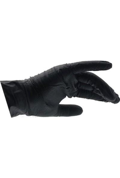 Nti-Glove Siyah Pudrasız Kalın Nitril Eldiven 50 Adet (XXL)
