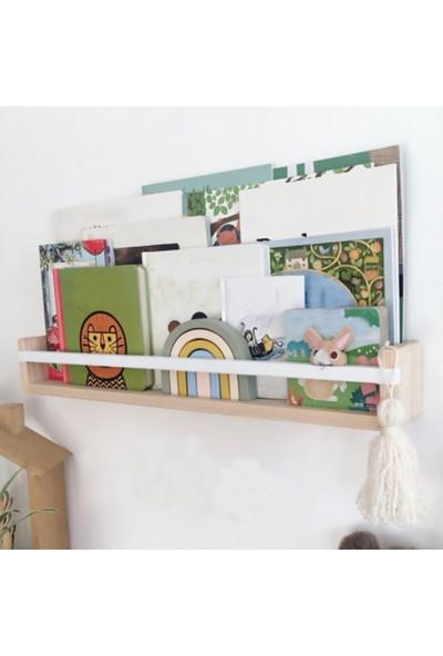 Tedarik Center Ahşap Bebek Çocuk Odası Rafı Montessori Raf Ahşap Duvar Rafı