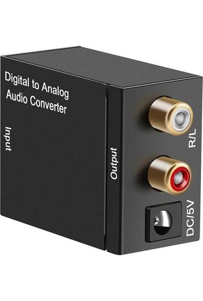 Tenon Digital To Analog Stereo Rca Optik Ses Çevirici Dönüştürücü