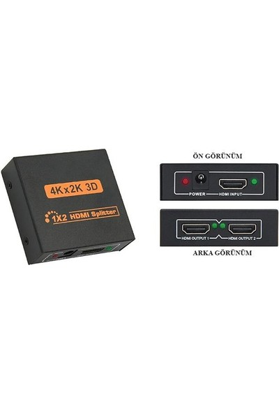 Tenon HDMI 1/2 4K 3D Full Hd Splitter Çoğaltıcı