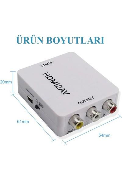 Tenon HDMI To Av Dönüştürücü Adaptör 1080P Full Hd