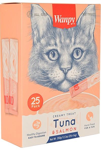 Wanpy Ton Balığı & Somonlu Sıvı Kedi Ödülü 25*14 gr