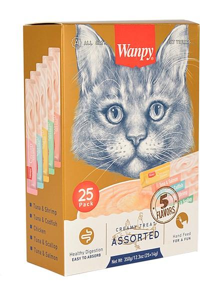 Wanpy Karışık Lezzetli Sıvı Kedi Ödülü 25X14 gr
