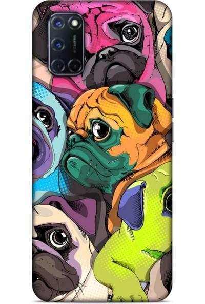 Lopard Animax Portre Pugs Oppo A72 Kılıf Desenli Silikon