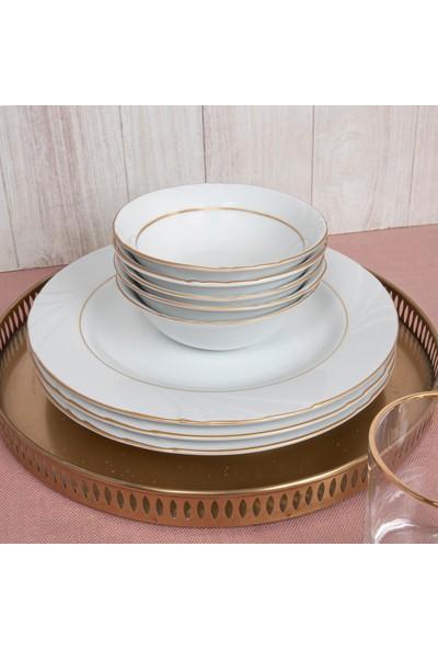Güral Porselen Güral 18 Parça Soprano Yaldızlı Yemek Seti