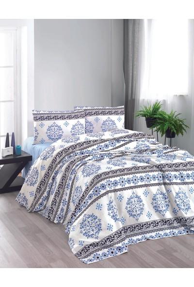 İpekçe Home Eva Infinity Mavi Çift Kişilik Pike Takımı