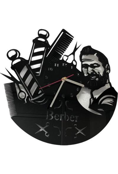 Pleksi Berber Duvar Saati