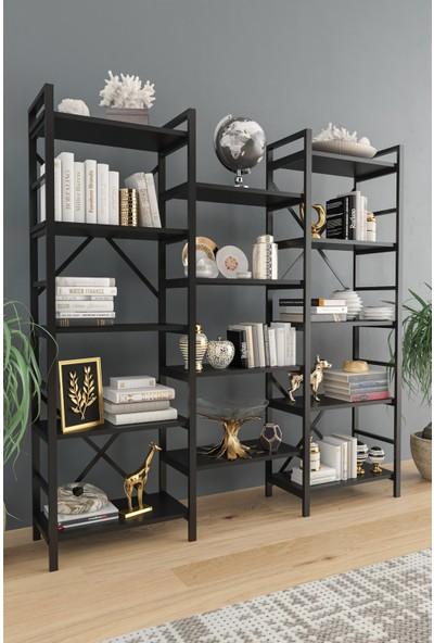 Evdemo Oertha Kitaplık - Siyah
