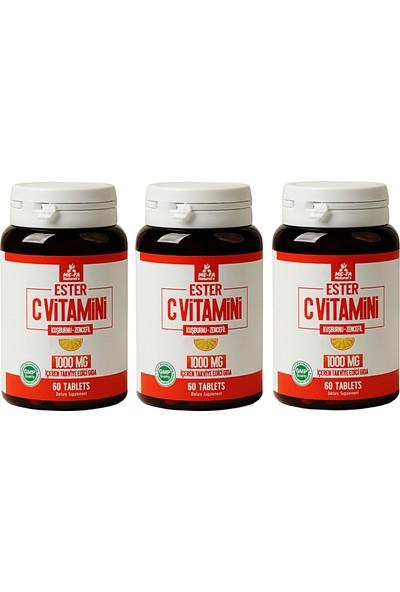 Mefa Naturals Ester C Vitamini 1000 mg 60 Tablet x 3