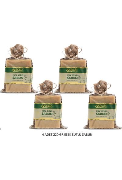 Akiksir Eşek Sütü Sabun 4 Adet 220 gr