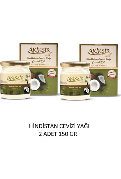 Akiksir Hindistan Cevizi Yağı 2 Adet 150 gr