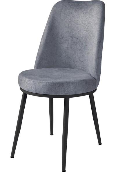 Wood Labs Metal Ayaklı Gold Sandalye Siyah Ayak