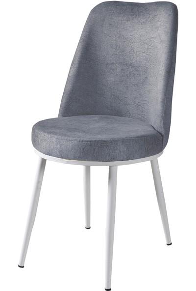 Wood Labs Metal Ayaklı Sandalye Beyaz Ayak