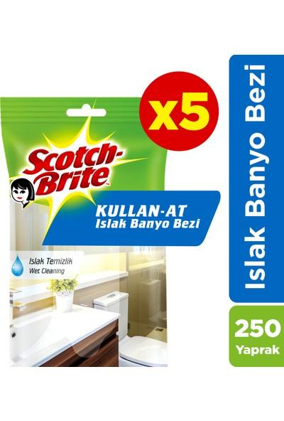 Scotch Brite Kullan-At Islak Banyo Bezi - 250 Yaprak(50*5)