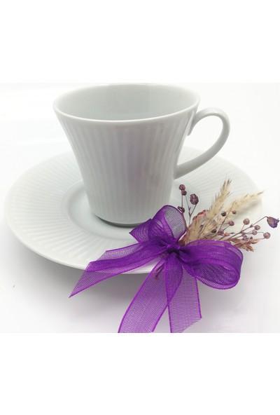 LORA DAVET Söz Nişan Yüzük Tepsisi ve Damat Fincanı Kahve Tepsi TAKIMIMOR54449