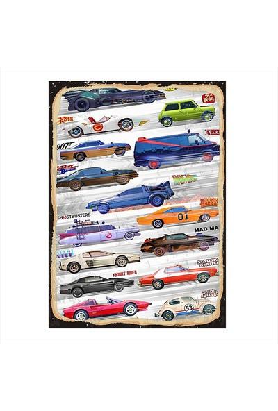 Tablomega Yarış Arabaları Dekoratif Mdf Tablo
