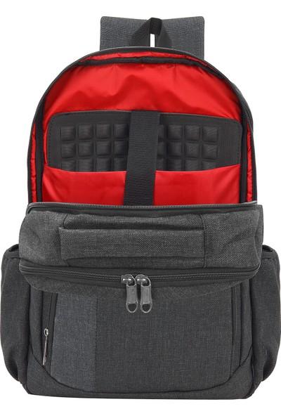 Deepblue DP-550 Lux Koton 15.6'' Notebook ve Evrak Sırt Çantası Gri