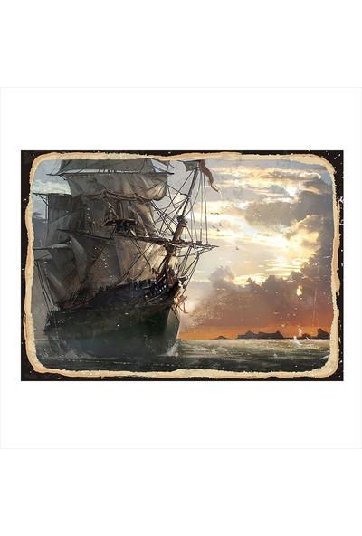 Tablomega Korsan gemisi Model Ahşap Tablo
