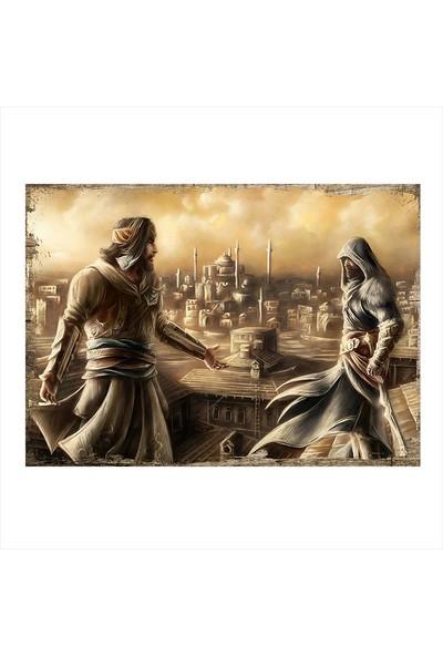 Tablomega Assassin's Creed Desenli Ahşap Tablo