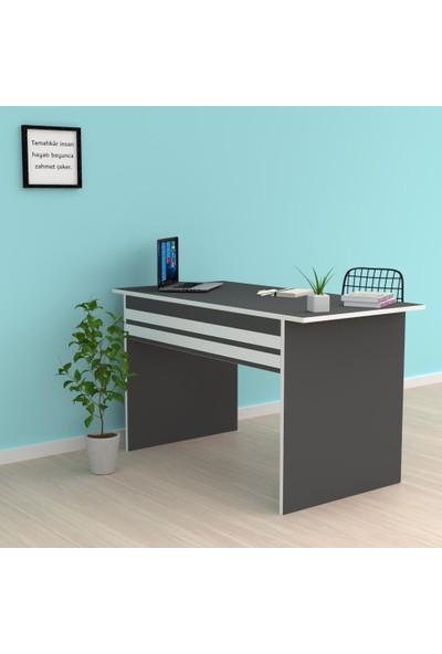Kenzlife Ofis Masası Kohana 075*160*70 Gri Bilgisayar Çalışma Büro