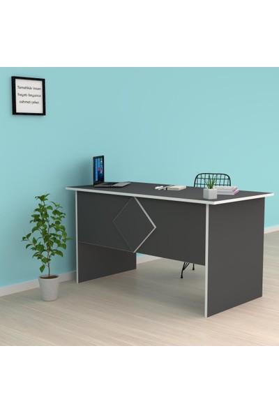 Kenzlife Ofis Masası Masako 075*160*50 Gri Bilgisayar Çalışma Büro