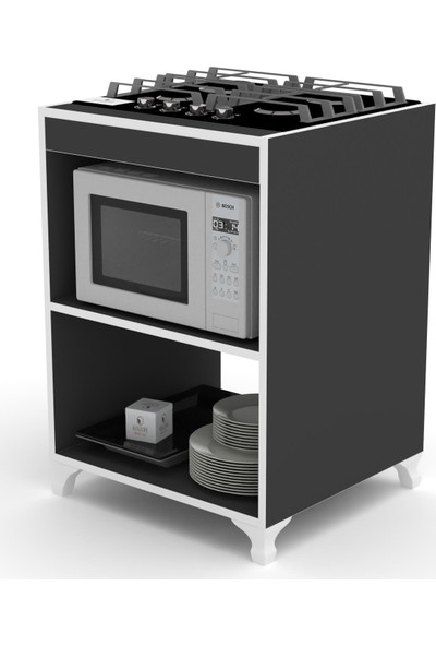 Knmz Ocak Dolabı Figen Syh 85*60*57 Mutfak Modül Mini Fırın Ankastre Ocak İçin