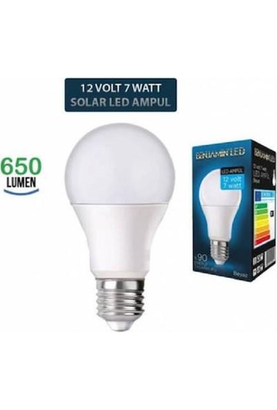 Benjamin 6 Adet Solar LED Ampül 12 Volt 7 Watt E27 Beyaz Benjamin 1.kalite