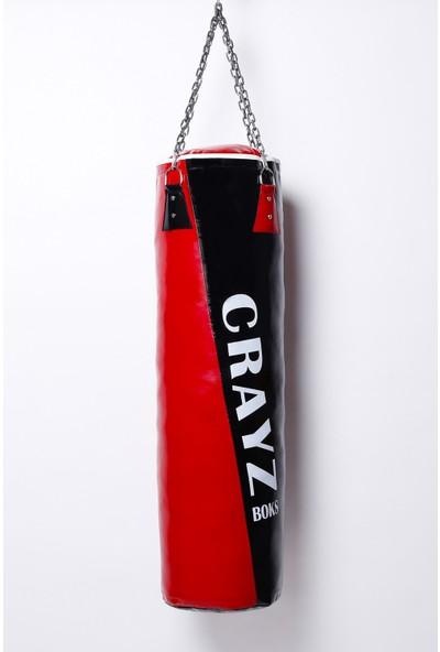 90X30 Kırmızı-Siyah Kum Torbası Zincirli (Askı Aparatı Hediye) Crayz
